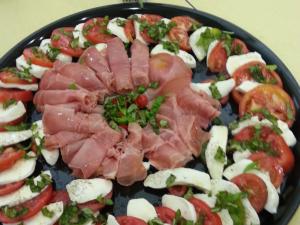 Photo of tomato and basil salad